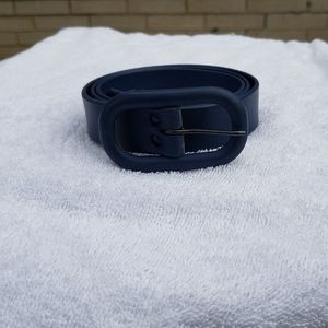 Navy blue belt with buckle